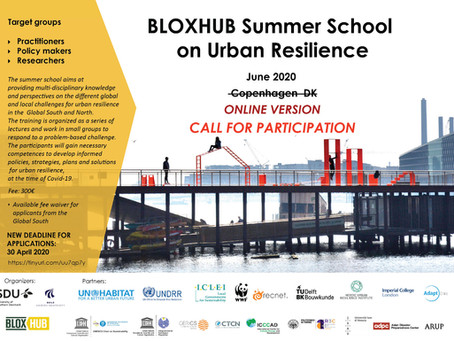Open call: BLOXHUB Summer School on Urban Resilience