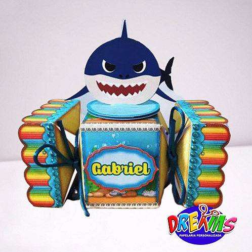 Caixa bal Baby shark menino