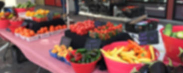 Our vast array of produce at local farmers markets
