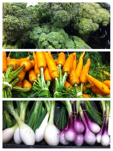 Broccoli, Carrots and Onions