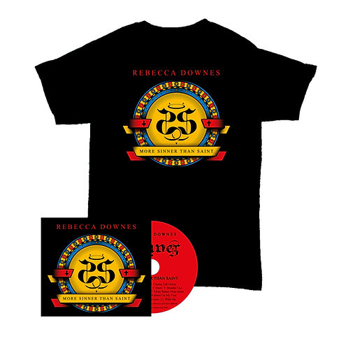 More Sinner Than Saint - Signed CD Album and T shirt