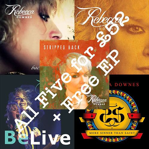 Package Deal 4 - All Five CD Albums plus Free EP