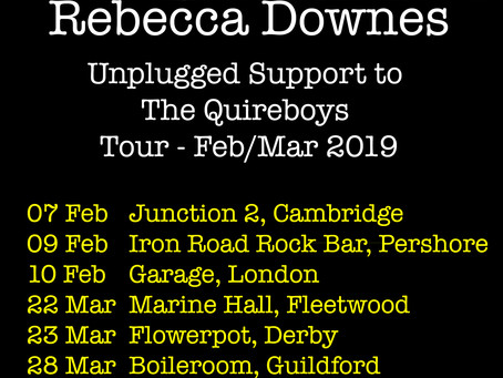 Quireboys Unplugged Supports Now Confirmed