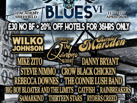 Rebecca on the line-up for HRH Blues VI - April 2020