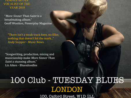 100 Club, London - Rescheduled Date