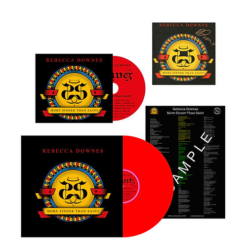 More Sinner Than Saint - Signed CD plus Vinyl Album plus Lyric Sheet
