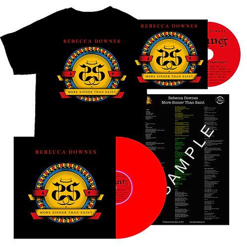 More Sinner Than Saint - Full Album Bundle: CD, Vinyl, T-shirt and Lyric Sheet