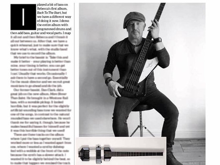 Steve Birkett in Bass Guitar Magazine