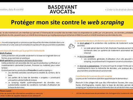 KDS #XI. Eviter le web scraping
