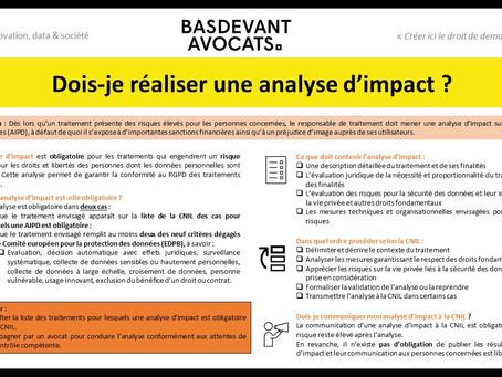 KDS #XV. Identifier les situations dans lesquelles conduire une analyse d'impact