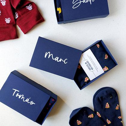 Caja calcetines personalizada