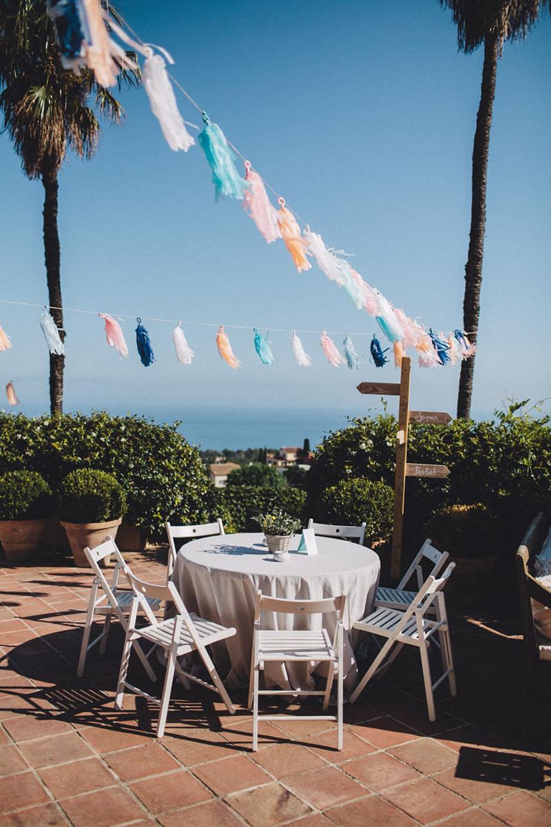 boda de verano cerca del mar organizada por detallerie