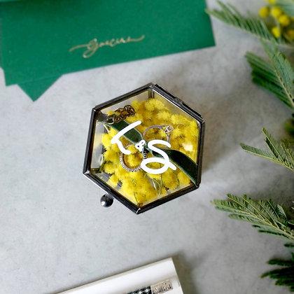 Caja de joyas negra personalizada