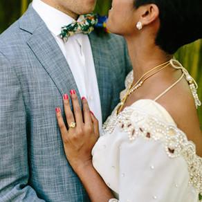 Meera y Patrick. Una boda tropical en el mediterráneo