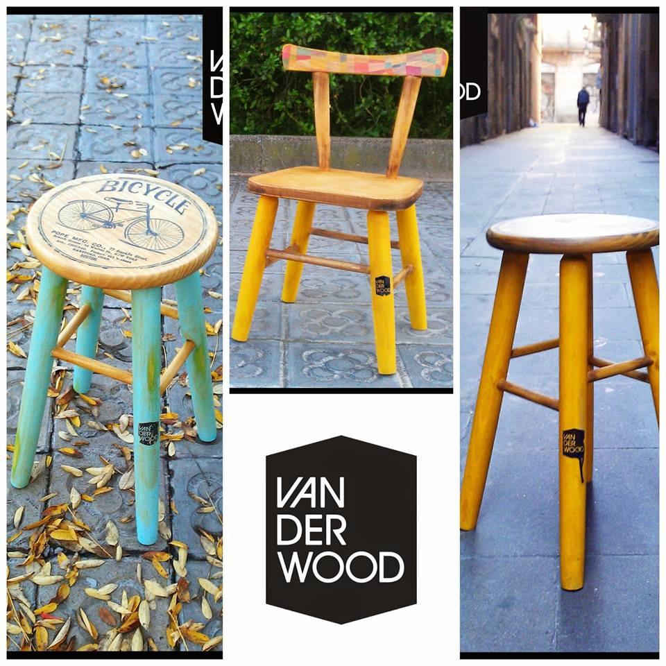 tabuertes y sillas van der wood
