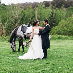 Carla y Mauro. Una novia a caballo