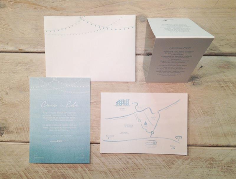 detallerie diseño grafico_linea grafica para una boda veraniega