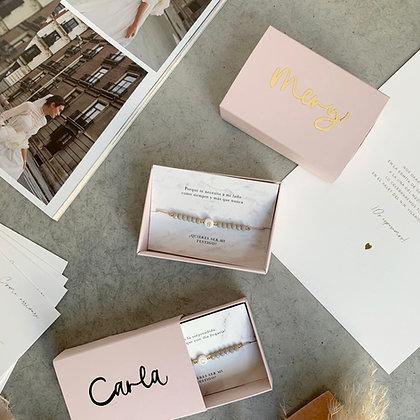 Caja regalo pulsera personalizada