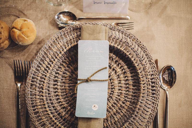 boda detallerie organización de eventos minuta poner la mesa