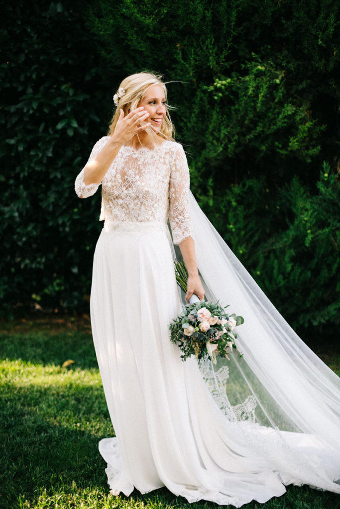 La novia en la naturaleza