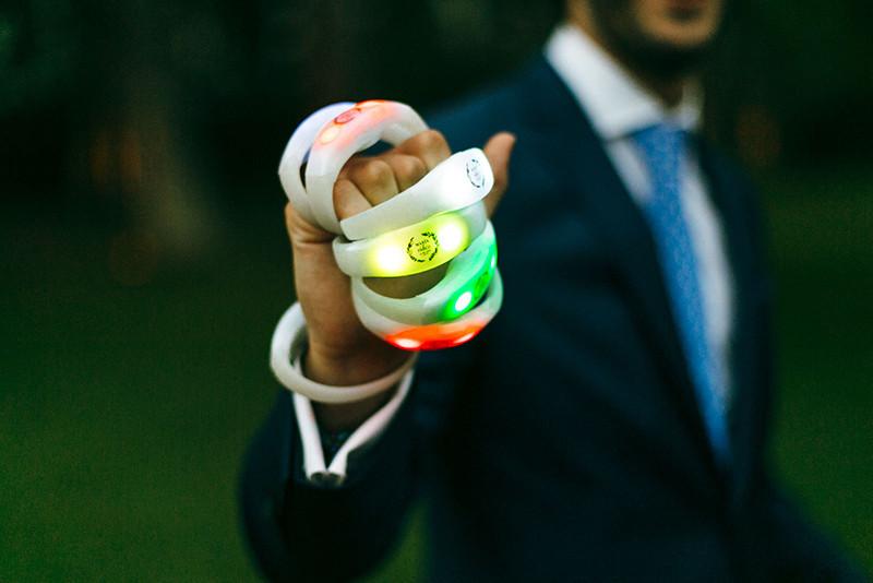 Pulseras luminosas para la fiesta