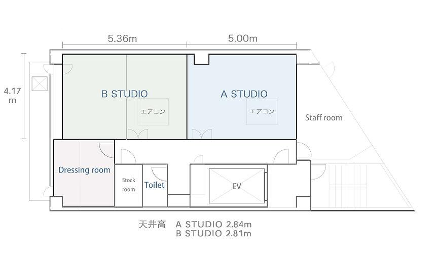 VINCENT STUDIO 平面図 撮影スタジオ