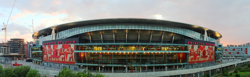 Emirates Stadium at dusk Credit: Ed g2s