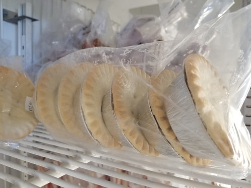 Six pack of turkey meat pies