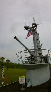 Deck gun on the USS Batfish
