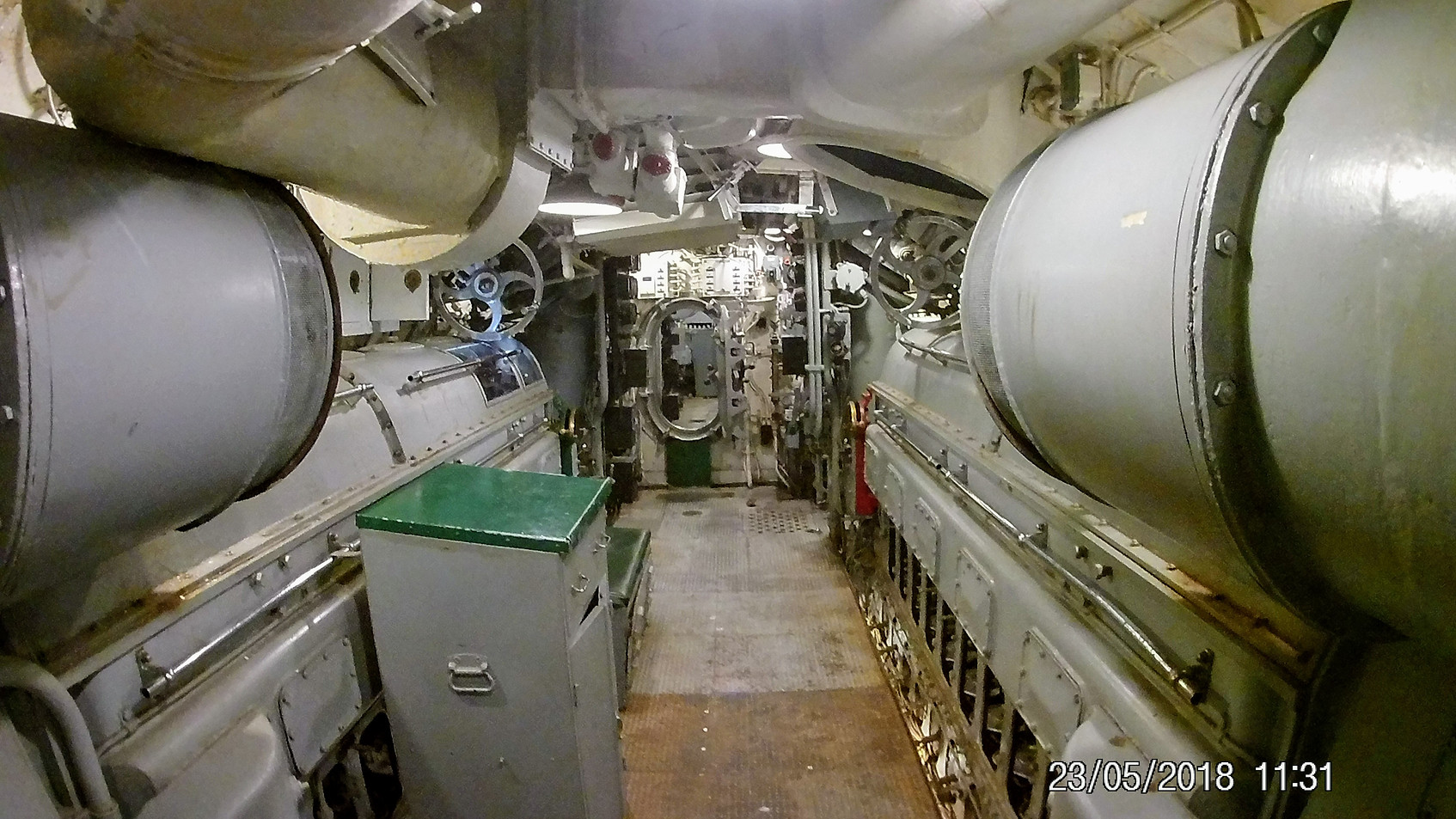 Bunks beneath torpedoes