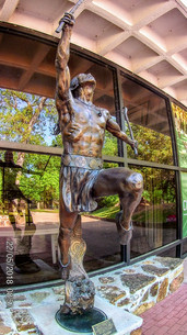 Sculpture at Cherokee National Museum