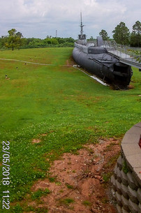 Submarine on dry land