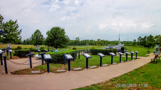 Each podium is a tribute to a US submarine sunk in WWII