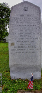 Historic marker at Fort Gibson
