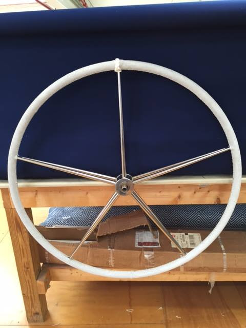 Handstitched Leather Wheel with Turkshead