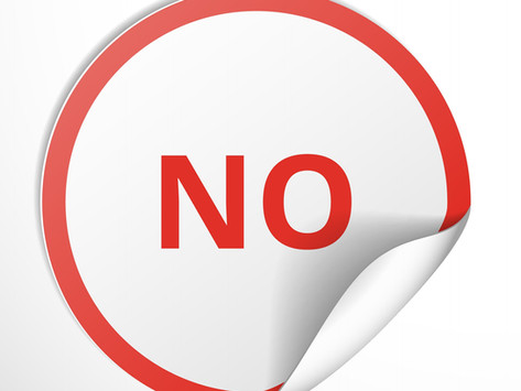 """Learning to Say """"No"""""""