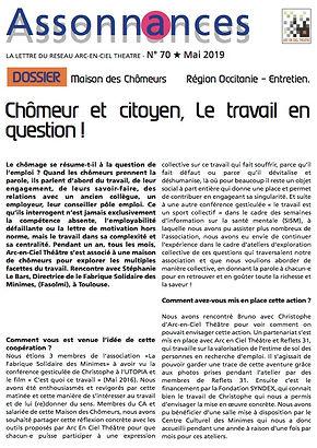 chômeur citoyen, théâtre-forum Fabrique Solidaire des Minimes Toulouse, arc en ciel théâtre