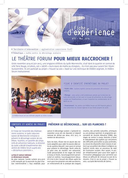 arc en cielle théâtre forum pour mieux raccrocher, lycée Cahors, théâtre forum, arc en ciel thâtre