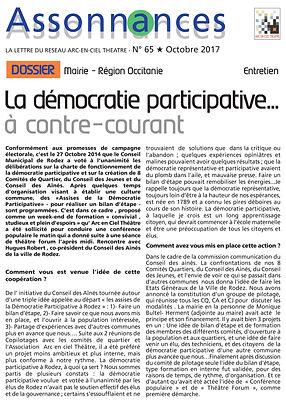 la démocratie participative à contre courant, théâtre forum mairie Rodez, arcen ciel théâtre