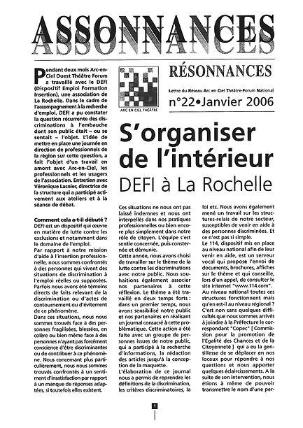 s'organiser de l'intérieur, DEFI la Rochelle, théâtre forum, arc en ciel théâtre