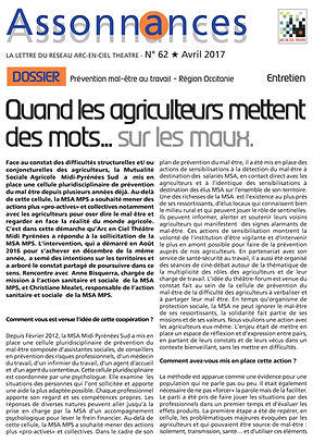 quand les agriculteurs mettent des mots sur les maux, MSA Midi Pyrénées, théâtre-forum, arc en cel théâtre