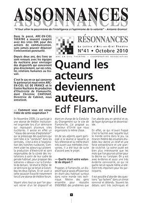 quand les acteurs dviennent auteurs, théâtre-forum EDF Flamaville, arc en cil théâtre