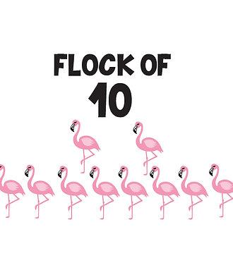 Flock of 10 Flamingos