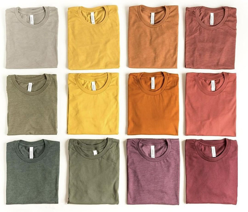 Bella+Canvas T-Shirt Colors