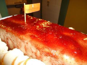 Patê de pato com geléia de pimentão vermelho