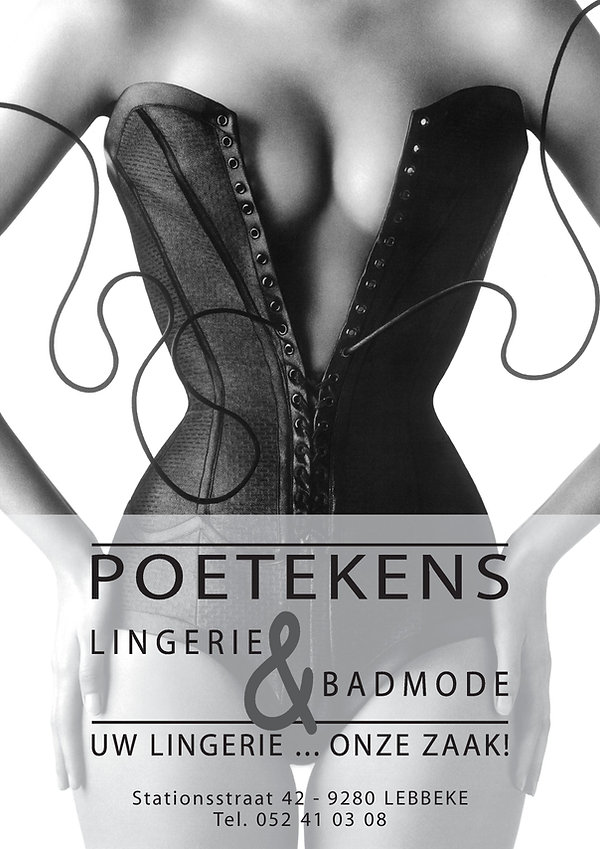 POETEKENS Lingerie & Badmode - extra geopend tijdens eindejaar.