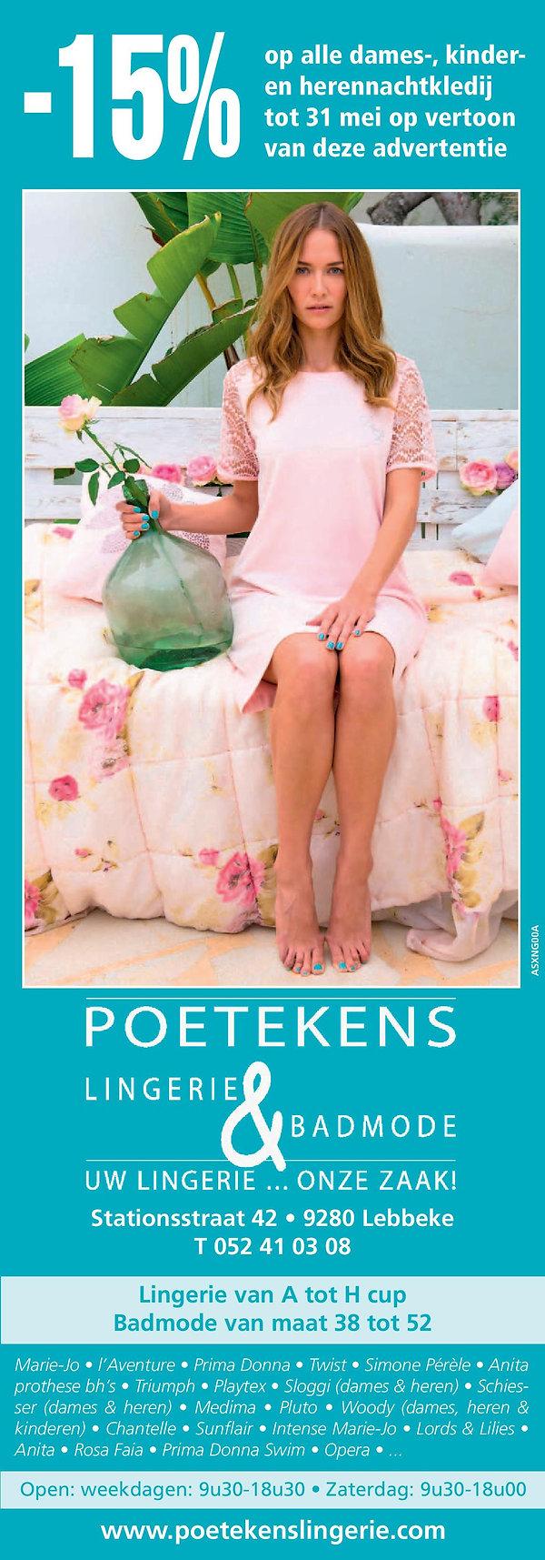 Slaapkledij voor dames, heren & kinderen - POETEKENS Lingerie & Badmode - Stationsstraat 42, 9280 Lebbeke