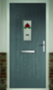 Portland 1 Rustic Composite Door Classic