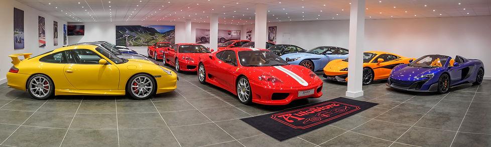 supercar sales showroom at Autostore