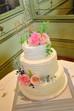 Floral wedding cake at Hotel du Vin, Tunbridge Wells